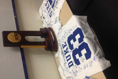 This is the memory of winning the national championship as a member of the duke mens lacrosse team.
